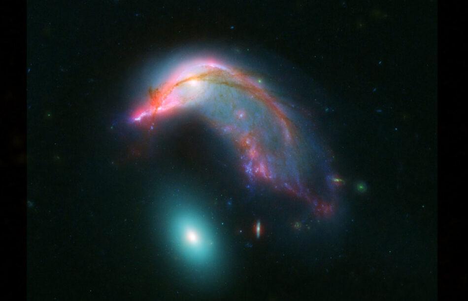 El pingüino y su huevo. La dramática historia de dos extrañas galaxias