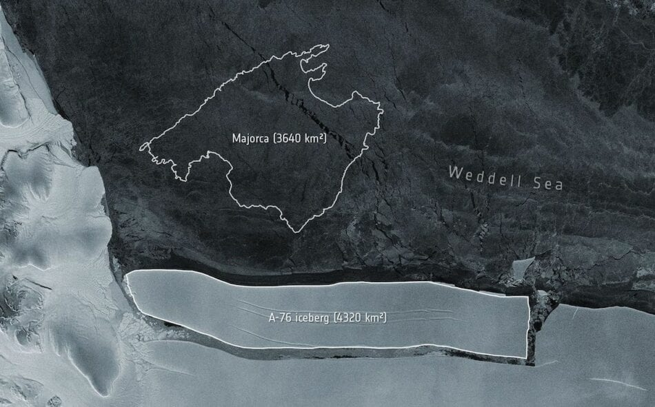 Un iceberg más grande que Mallorca va a la deriva