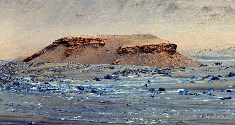 Un lago en Marte